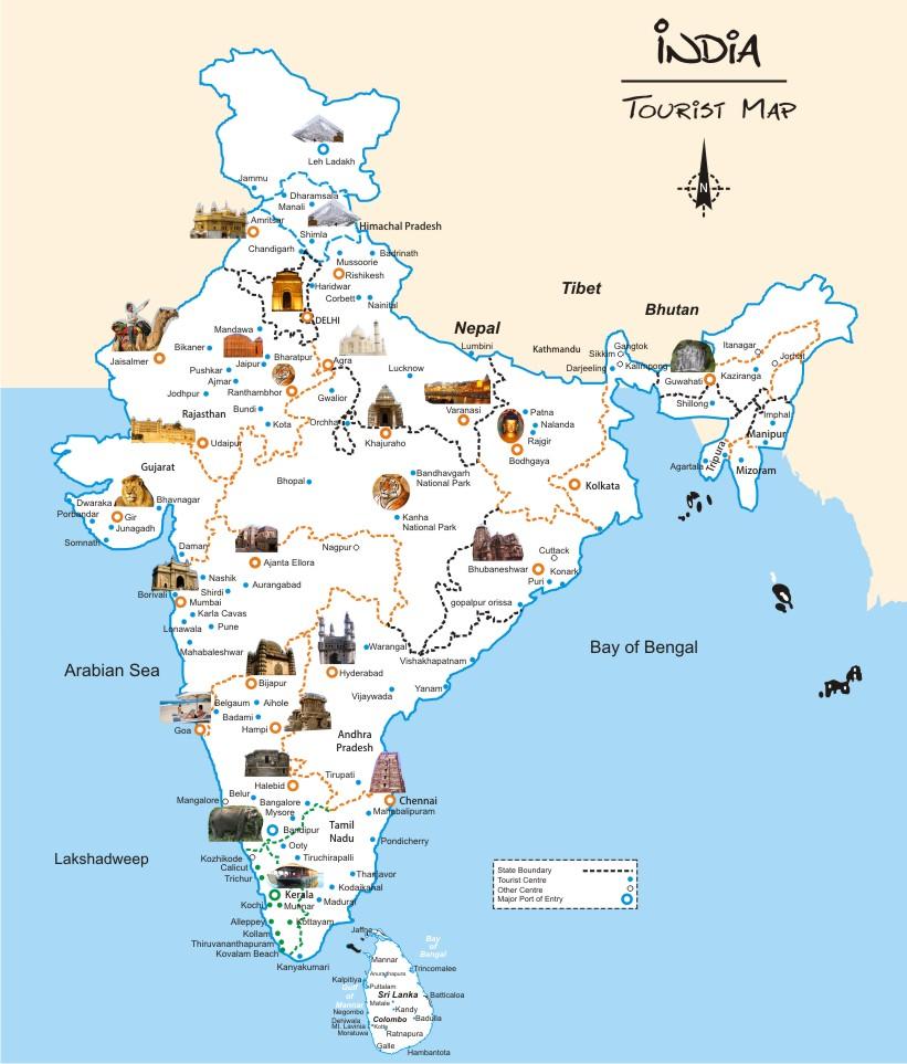 india-tourism-map